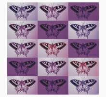 Pink and Purple butterflies Kids Clothes