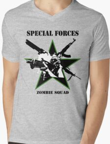Special Forces Zombie Squad II Mens V-Neck T-Shirt
