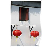 Lanterns at the Window Poster