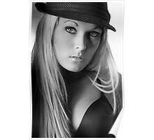 Holley Black in Black and White Poster