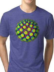 Smiling Happy Faces Tri-blend T-Shirt