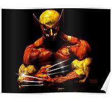 Wolverine photo manipulation artwork Poster