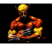 Wolverine photo manipulation artwork Photographic Print