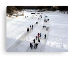 """""""THE WORLDS LONGEST SKATING TRAIL"""" Canvas Print"""