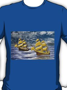 Two Ships of the Line Heading for Battle T-Shirt