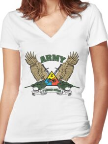 2nd Armored Division U.S. Army Women's Fitted V-Neck T-Shirt