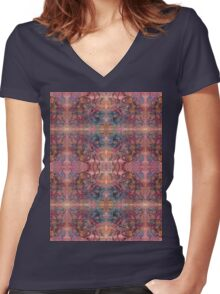 brush and pen squiggles Women's Fitted V-Neck T-Shirt