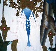 compassionate heart. thangka detail, new zealand  by tim buckley   bodhiimages