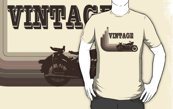 Vintage Motorcycle Tee by block33
