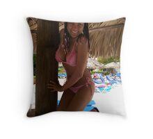 Caribbean Braids Throw Pillow