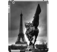 Sculpture And The Eiffel Tower  iPad Case/Skin