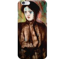 A woman with a slight chagrin  iPhone Case/Skin