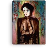 A woman with a slight chagrin  Canvas Print