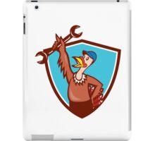 Turkey Mechanic Spanner Shield Cartoon iPad Case/Skin
