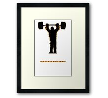 Let the wookie lift Framed Print