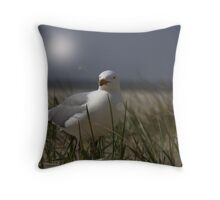 Silver Gull Throw Pillow