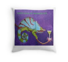 Happy Hour In Madagascar - (with title) Throw Pillow