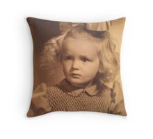 Portrait of a little girl Throw Pillow