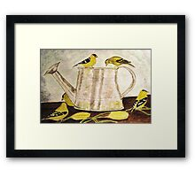 A Goldfinch Gathering Framed Print