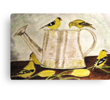 A Goldfinch Gathering Canvas Print