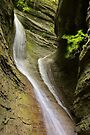 Double waterfall in Castran canyon by Patrick Morand