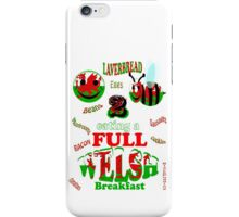 happy 2 bee eating a full welsh iPhone Case/Skin