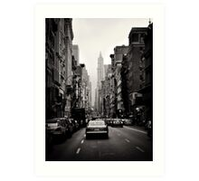 Manhattan avenue in black and white Art Print