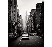 Manhattan avenue in black and white Photographic Print