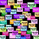 Rainbow Butterflies by cathyjacobs