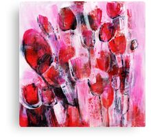 abstract flower painting Canvas Print