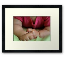 Baby hands Framed Print