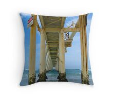 Under the Jetty at Fingal Bay Throw Pillow