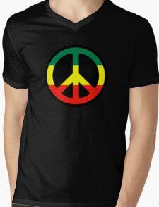 Rasta Peace Mens V-Neck T-Shirt