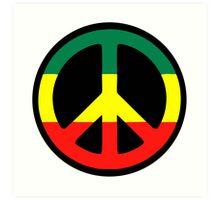 Rasta Peace Art Print