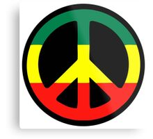 Rasta Peace Metal Print