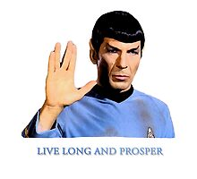 Spock - Live Long And Prosper - Star Trek by FKstudios
