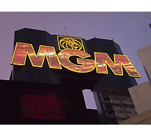 MGM Grand 2 Photographic Print