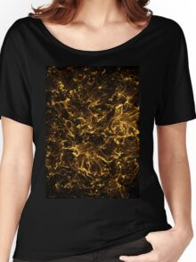 Neon Flame Gold Women's Relaxed Fit T-Shirt
