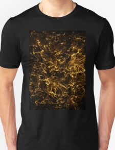 Neon Flame Gold Unisex T-Shirt