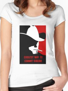 Coolest way to commit suicide Women's Fitted Scoop T-Shirt