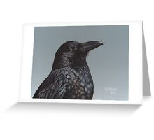 Study of a Raven Greeting Card