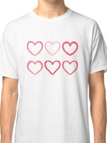 Watercolor hearts Classic T-Shirt
