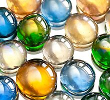 Glass balls marbles abstract by Arletta Cwalina