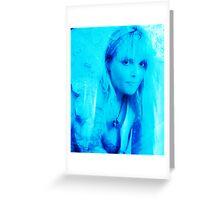 Aqua Blonde Greeting Card
