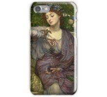 Sir Edward John Poynter  - Lesbia and her Sparrow 1907 iPhone Case/Skin