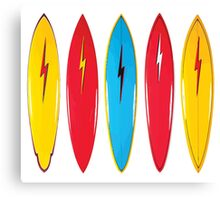 Vintage surfboards Canvas Print