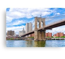 Historic Brooklyn Bridge And The New York City Skyline Canvas Print