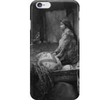 Skokomish Indian Chief's Daughter with baskets by Edward Sheriff Curtis. iPhone Case/Skin