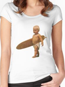 Baby Surfer Women's Fitted Scoop T-Shirt