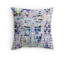 Color Reflections Through Ice Throw Pillow
